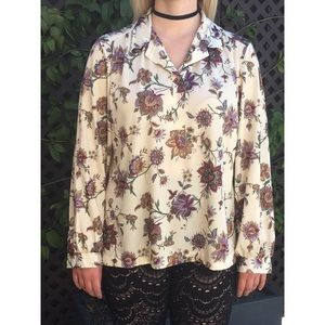 Vintage Paisley and Floral Long Sleeve Top